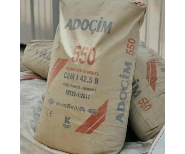 Цемент ПЦ-550 Туреччина ADOCIM, 25 кг(60шт/пал)