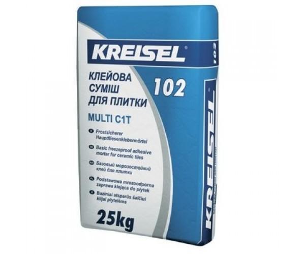 Клей для плитки Крайзель 102(Kreisel) морозостійкий, 25 кг