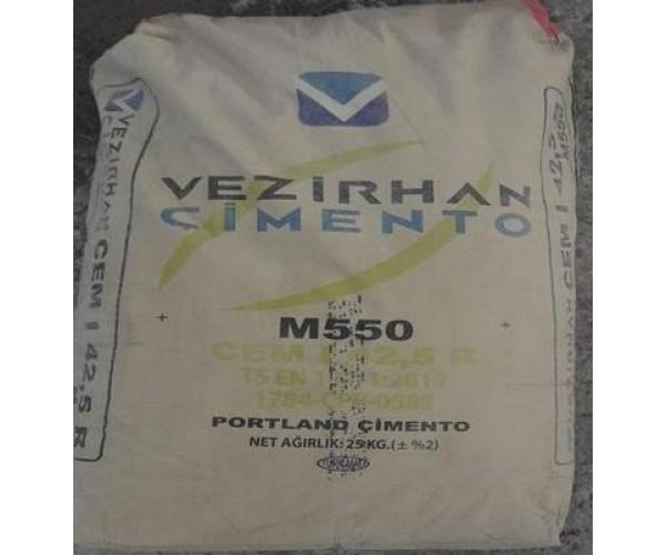 "Цемент турецький ПЦ-550 ""VEZIRHAN"", 25 кг (64шт/пал)"