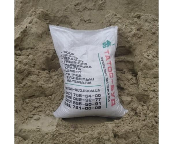Пісок фасований в мішках