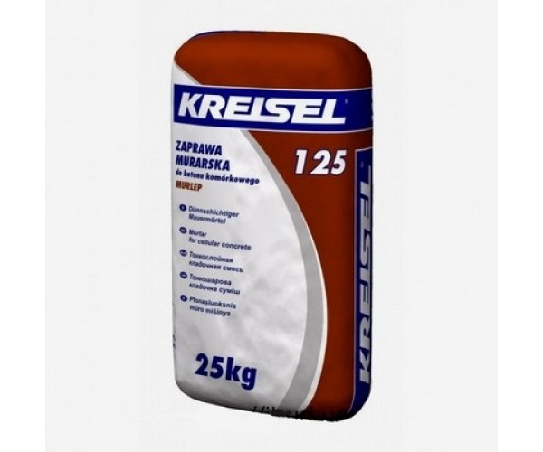 Клей для газобетону Крайзель 125(Kreisel), 25кг